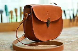 Kabelky - kabelka kožená PANACEA BASIC karamel, S - 7116907_