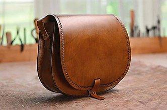 Kabelky - Kabelka lovecká/saddle bag ARTEMIS, hnedý antique - 7117320_