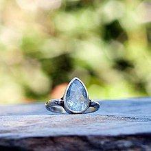 Prstene - Strieborný prsteň - Kvap - 7116326_