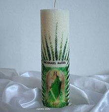 Svietidlá a sviečky - Archanjel RAFAEL, ten ktorý lieči, veľká sviečka - 7114475_