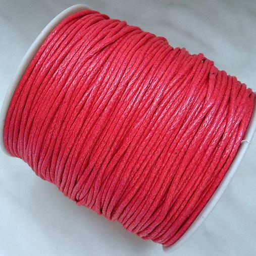 Bavlnená voskovaná šnúrka 1,5mm-červená-cca100m