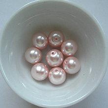 Korálky - Vosk.perly 10mm-8ks (sv.ružová) - 7116998_