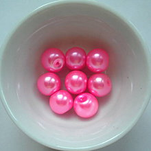 Korálky - Vosk.perly 10mm-8ks (ružová refl) - 7117031_