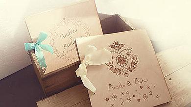Papiernictvo - Kniha hostí svadobná drevená - 7115690_