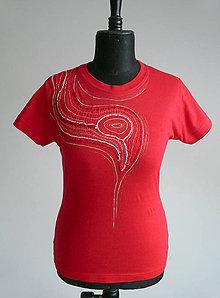 Tričká - Dámské triko s paličkovanou krajkou - TPK-013 - 7113960_