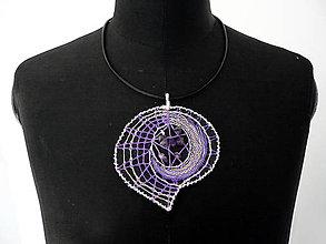 "Náhrdelníky - Paličkovaný šperk ""Ve fialové"" - SD-SA-043 - 7115632_"