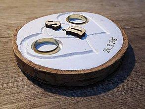Prstene - vintage svadba/vankúšik pod svadobné prstene VII - 7117582_