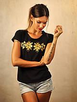 Tričká - Tričko s krátkym rukávom - Little black and gold - 7114133_