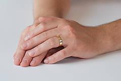 Prstene - Obrúčka obdĺžniková - široká - 7115867_