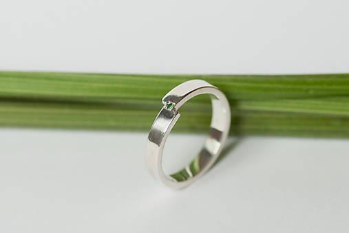 Prstene - Zásnubný prsteň / obrúčka obdĺžniková - predelená - 7116180_