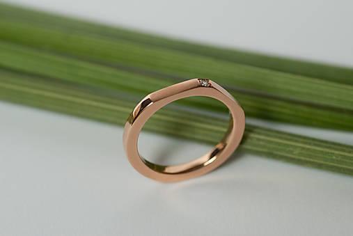 Prstene - Zásnubný prsteň / obrúčka štvorcová - osemhran menší výrez - 7117196_