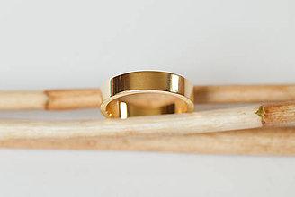 Prstene - Obrúčka obdĺžniková - široká - 7115865_