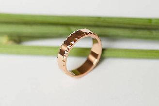 Prstene - Obrúčka obdĺžniková - žliabkovaná - 7115895_