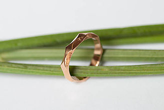 Prstene - Obrúčka obdĺžniková - vzorovaná - 7116236_