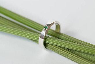 Prstene - Zásnubný prsteň / obrúčka obdĺžniková - zbrúsená - 7116286_