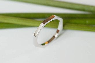 Prstene - Obrúčka štvorcová - osemhran - 7117034_
