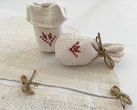 Úžitkový textil - Suknička a podložka pod vianočný stromček z ručne tkaného ľanu - 7115710_