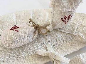 Úžitkový textil - Suknička a podložka pod vianočný stromček z ručne tkaného ľanu - 7115728_