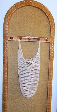 Nákupné tašky - Háčkovaná nákupná sieťka zo špagátu - 7119556_