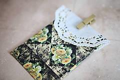 Papiernictvo - Obálka na peniaze - s kvetmi - 7118224_