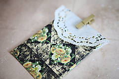 Papiernictvo - Obálka na peniaze - s kvetmi Výpredaj! - 7118224_