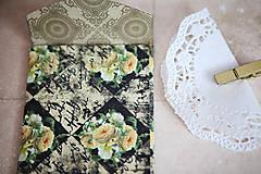 Papiernictvo - Obálka na peniaze - s kvetmi - 7118225_