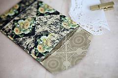 Papiernictvo - Obálka na peniaze - s kvetmi - 7118227_