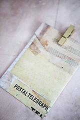 Papiernictvo - Obálka na peniaze - vintage - 7118242_