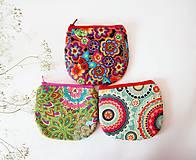 - Peňaženka - pestrofarebné kvety - 7118861_