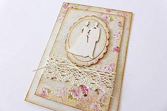 Papiernictvo - pohľadnica svadobná - 7117975_