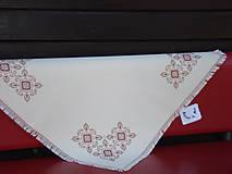 Úžitkový textil - Ručne vyšívaný obrus - 7117596_