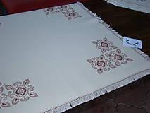 Úžitkový textil - Ručne vyšívaný obrus - 7117597_