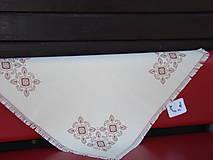 Úžitkový textil - Ručne vyšívaný obrus - 7117598_