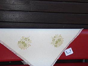 Úžitkový textil - Ručne vyšívaný obrus - 7120651_