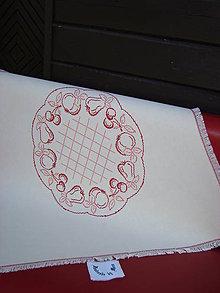 Úžitkový textil - Ručne vyšívaný obrus - 7120709_