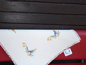 Úžitkový textil - Ručne vyšívaný veľkonočný obrus - 7120737_