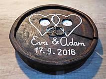 vintage svadba/vankúšik pod svadobné prstene VIII