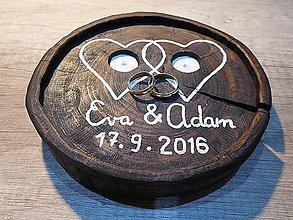 Prstene - vintage svadba/vankúšik pod svadobné prstene VIII - 7117667_