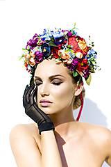 - Veľká svieža kvetinová čelenka. - 7119660_