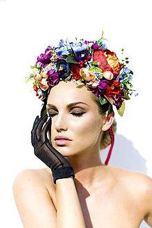 Ozdoby do vlasov - Veľká svieža kvetinová čelenka. - 7119660_