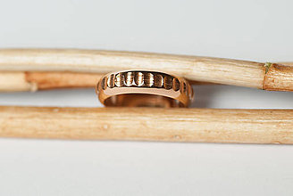 Prstene - Obrúčka polkruhová - žliabkovaná - 7120207_