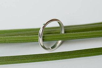 Prstene - Zásnubný prsteň / obrúčka polkruhová - zúžená - 7120521_