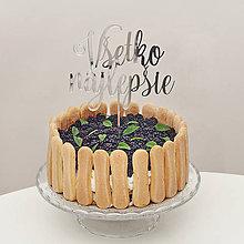 Dekorácie - VŠETKO NAJLEPŠIE zápich na tortu - 7118448_