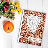 Papiernictvo - Zápisníky Farebná jeseň ((kvety) - list 7) - 7119049_