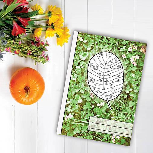 Zápisníky Farebná jeseň ((kvety) - list 5)