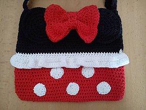 Detské tašky - Háčkovaná kabelka Minnie - 7122046_