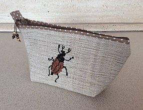 Taštičky - kapsička chrobáčiky II - 7122323_