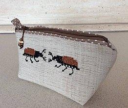 Taštičky - kapsička chrobáčiky III - 7122326_