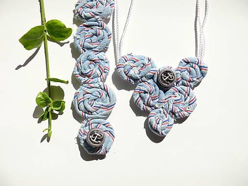458125743 Textilný náhrdelník s náramkom Nautical / z.ana - SAShE.sk ...
