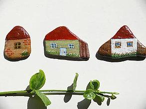 Dekorácie - Domčeky na kameni - 7122833_